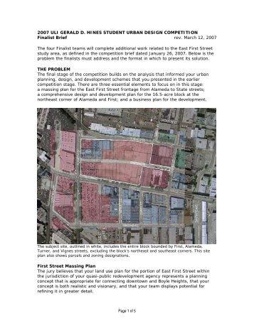 Finalist Brief - Urban Land Institute