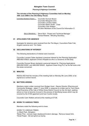 Abingdon Town Council - Vision ICT Ltd