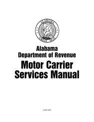 Motor Carrier Service Manual 6-05 - Alabama Department of ...