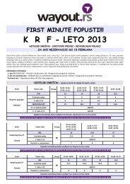 K  R  F - LETO 2013 - Wayout