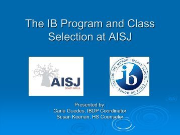 IB Information and Class Selection