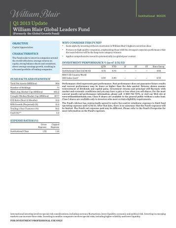 Institutional Factsheet - William Blair