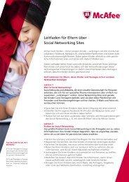 Leitfaden für Eltern über Social Networking Sites - Toshiba
