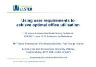 Using user requirements to achieve optimal office ... - eres.scix.net