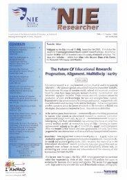 Future EBuczttIomI Research: The - NIE Digital Repository - National ...