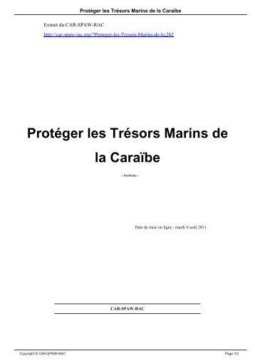 Protéger les Trésors Marins de la Caraïbe - CAR-SPAW-RAC
