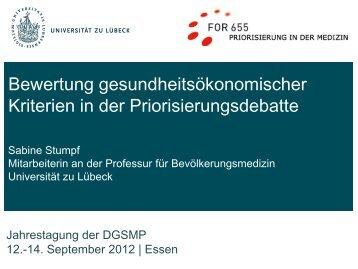 EbM in Deutschland - DGSMP