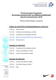 Provisorisches Programm Schweizermeisterschaft und ...