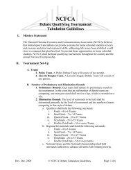 Debate Qualifying Tournament Tabulation Guidelines - National ...
