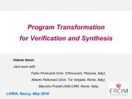 Program Transformation for Verification and Synthesis