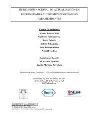 IIIª Reunión nacional de actualización en enfermedades ...