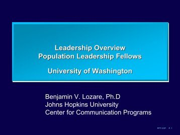 Ben Lozare Collected PowerPoint Presentations - Population ...