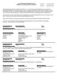 London Borough of Waltham Forest Weekly List Of All Applications ...