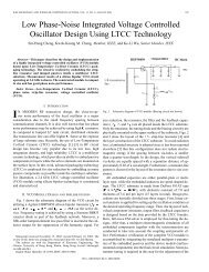 Low phase-noise integrated voltage controlled oscillator design ...