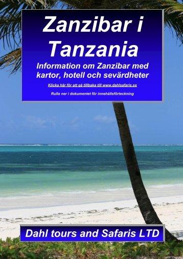 hotell på Zanzibar i Tanzania samt reseinformation - Dahl Safaris