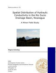 Spatial Distribution of Hydraulic Conductivity in the Rio Sucio ...