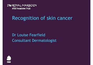 Download presentation (PDF) - Royal Marsden Hospital