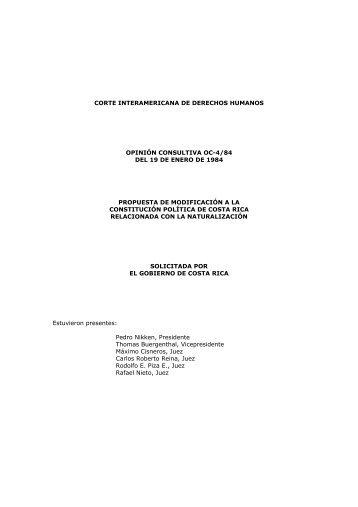 corte interamericana de derechos humanos opinión consultiva oc-4 ...