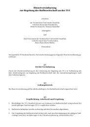 Dienstvereinbarung zur Regelung der Rufbereitschaft an der TUC