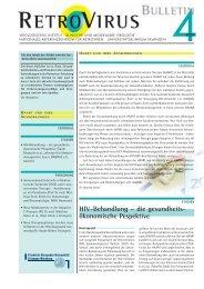 HIV-Behandlung – die gesundheits- ökonomische Pespektive - GfV