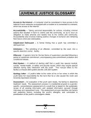 JUVENILE JUSTICE GLOSSARY - Florida Department of Juvenile ...