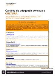 Recursos para la Búsqueda de Empleo en el ... - Barcelona Treball
