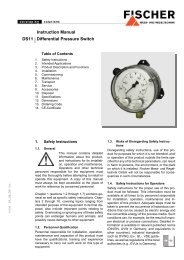 Instruction Manual DS11 Differential Pressure Switch - FISCHER Mess