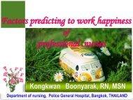 Factors predicting to work happiness professional nurses - IUPUI