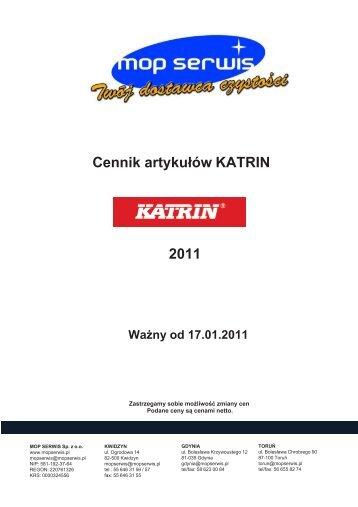 Cennik artykułów KATRIN 2011