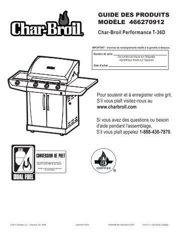 GUIDE DES PRODUITS MODÈLE 466270912 - Char-Broil Grills