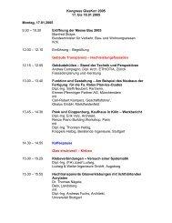 Kongress GlasKon 2005 17. bis 18.01 2005 ... - architekten24.de