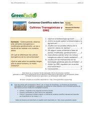 Consenso Científico sobre los Cultivos Transgénicos y ... - GreenFacts