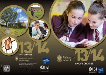 GCSE Choices Handbook - Rishworth School