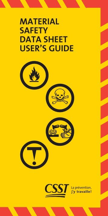 MATERIAL SAFETY DATA SHEET USER'S GUIDE - CSST