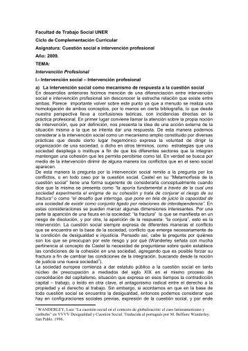 Intervencion profesional y matriz de analisis - Facultad de Trabajo ...
