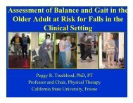 Assessment of Balance and Gait in the Older Adult at ... - UCSF Fresno