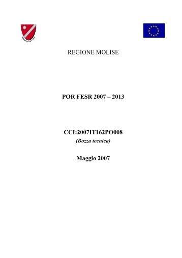 REGIONE MOLISE POR FESR 2007 – 2013 CCI ... - Ufficio Europa