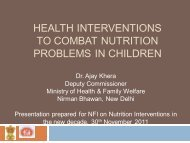 (undernutrition and micronutrient deficiencies) in children