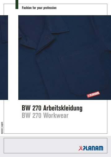 BW 270 Arbeitskleidung BW 270 Workwear