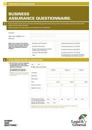 Business Assurance Questionnaire (W1844) - Legal & General