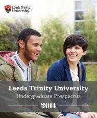 BA Single Honours - Leeds Trinity University