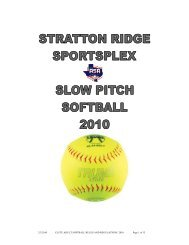 Dear Adult Slowpitch Softball Player/Manager, - City Of Clute, Texas