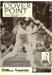 cricketers - Weston Creek Cricket Club