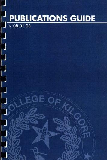 Publications Manual - Kilgore College