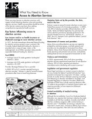 What You Need to Know Access to Abortion Services