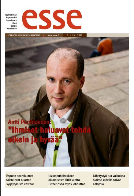 Esse 03/2012 (pdf) - Espoon seurakuntasanomat