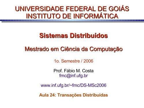 T - Instituto de Informática - UFG