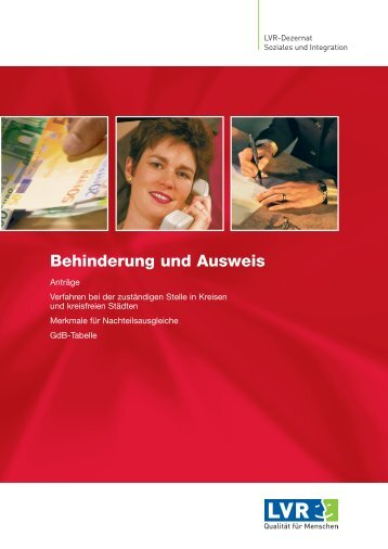 Behinderung und Ausweis - Landschaftsverband Rheinland