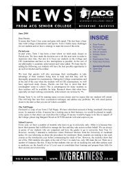 INSIDE INSIDE - The Academic Colleges Group