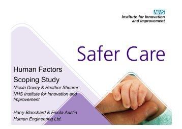 Human Factors Scoping Study - Clinical Human Factors Group